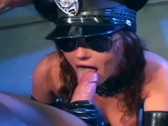Kinky sex in a latex costume and shiny gloves movies at kilosex.com