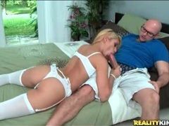 Blonde latina in sexy white lingerie sucks cock movies at find-best-lingerie.com