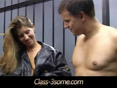 Lucky prisoner fucked by two horny guardian babes movies