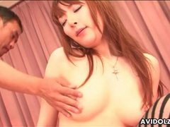 Tongue eats out japanese pussy as she blows videos