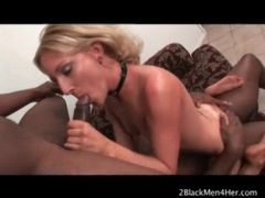 Cute blonde with little tits loves big black cocks videos