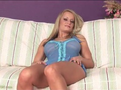 Sheer blue lingerie spices up milf body videos