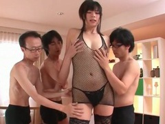 Guys fondle sexy japanese girl in lingerie videos