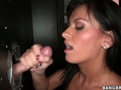 Hot cunt of a sexy slut fucked at gloryhole videos