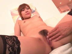 Black stockings make japanese girl fun to finger videos