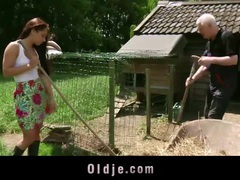 Farmer grandpa fucks hardcore naughty young girl videos