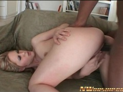 Black cock nails blonde girl in doggystyle porn movies at kilosex.com