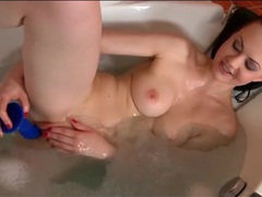 Big breasts girl fucks shaved cunt with a toy movies at adipics.com