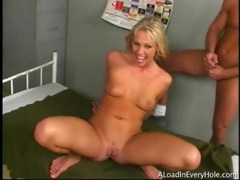 Three cumshots for hot blonde cock whore videos