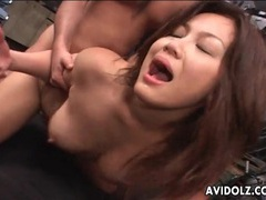 Anal sex with a slutty japanese girl on her knees videos