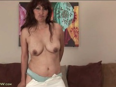Mature estella eves strips from her sheer sweater movies at kilotop.com