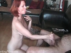 Naked milf redhead smokes and sucks his big cock videos