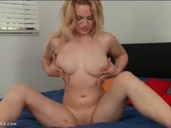 Blonde courtney shea strips and fondles her tits videos