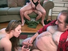 Ron jeremy fucks young chicks at orgy porn videos