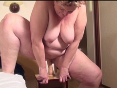 Mature bbw moans and fucks a dildo movies at sgirls.net