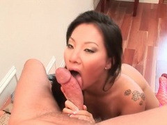 Asian pornstar blows him and rides his fat dick tubes at thai.sgirls.net