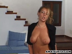 Busty amateur girlfriend home action with cum on tits movies at sgirls.net