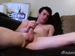 Brunette straight guy josh masturbating videos
