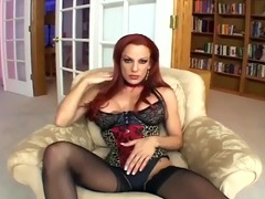 Sexy redhead fucking in black seamed stockings videos