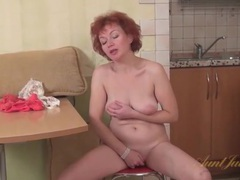 Mature redhead shakes her ass in lace panties videos
