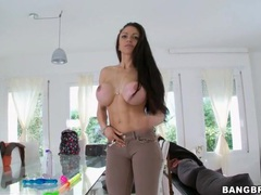 Fake tits of marta la croft in close up videos