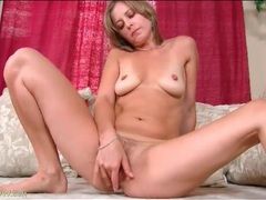 Tasty milf with tan lines fondles her body videos
