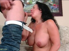 Busty mature blows him with wet mouth videos