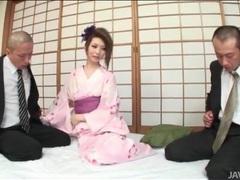 Kimono cutie rinka kanzaki sucks two dicks videos