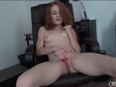 Redhead lucy fire masturbates with thick dildo movies at find-best-panties.com