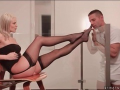 Blanche bradburry gives sensual footjob movies