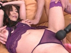 Japanese slut with bound hands sucks dick tubes at japanese.sgirls.net
