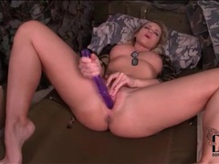 Purple dildo anally fucks kathia nobili movies at kilovideos.com