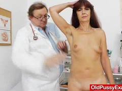 Granny gets her puss gaped during a gyno videos