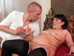 Mature slut margo masturbates in stockings videos