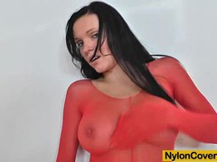 Busty model ema black face deformed by a nylon mask movies at find-best-lingerie.com