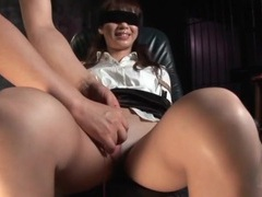 Japanese secretary in pantyhose is tied up videos