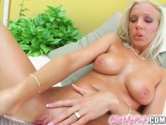 Blonde with perky tits masturbates her pussy movies at kilopics.net