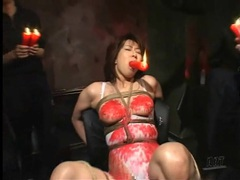Japanese tits end up covered in hot wax tubes at japanese.sgirls.net