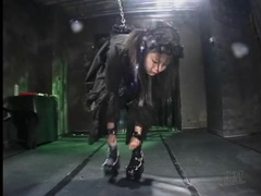 Naughty black dress on chained up japanese girl tubes at lingerie-mania.com