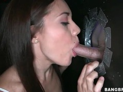 Skinny girl sofia lata sucks gloryhole cock videos