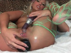 Blonde webcam slut stuffs big toys in her ass movies at lingerie-mania.com