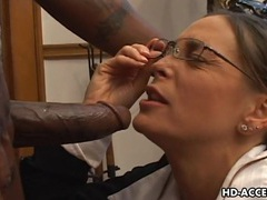 Experienced cheyenne hunter milks a bbc dry. videos