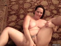 Tattooed fat girl sucks him and masturbates movies at sgirls.net