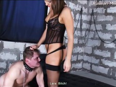 Mistress dressed in lingerie dominates him movies at sgirls.net