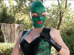 Latex lucy in skintight kinky lingerie outdoors movies at kilopills.com