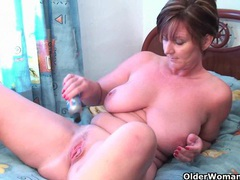 Classy grandma pushes dildo up her ass videos
