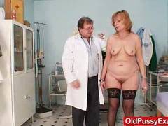 Redhead gran pussy gaping at gyno clinic videos