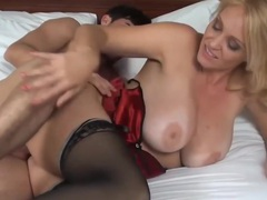 Blonde mature movies at lingerie-mania.com