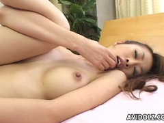 Japanese babe aki gets fingered close up uncensored movies at sgirls.net