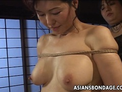 Asian babe in rope bondage scene tubes at thai.sgirls.net